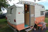 Unique 1963 Shasta Back-Entry Travel Trailer in Salmon Pink and White