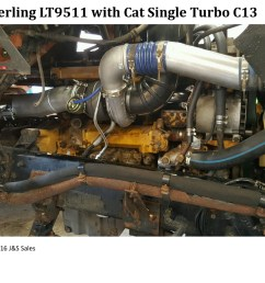 cat c13 engine coolant diagram wiring librarysterling lt9511 cat c13 single turbo conversion [ 1200 x 900 Pixel ]