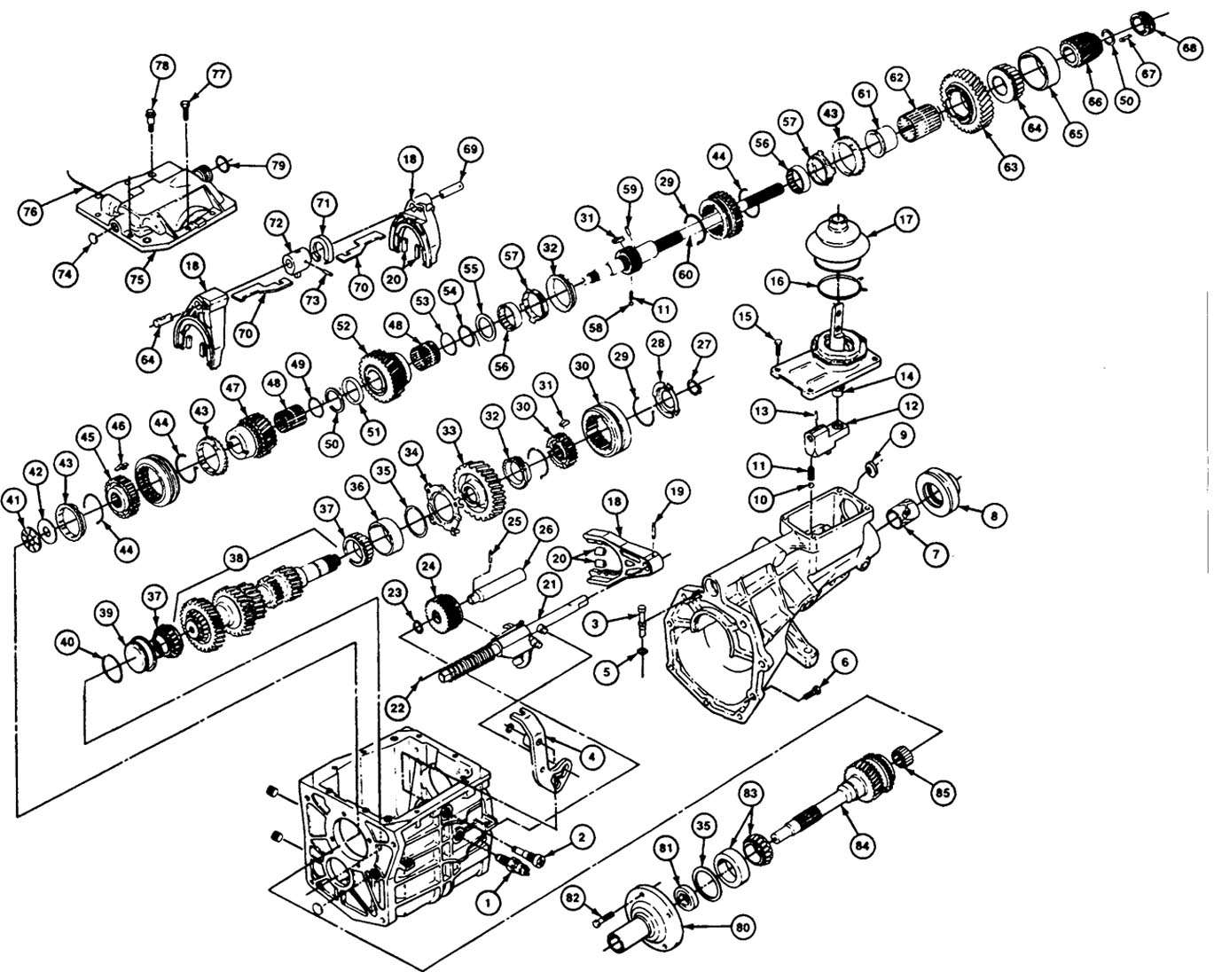hight resolution of transmission parts exploded view autos post t5 transmission breakdown t5 transmission parts list
