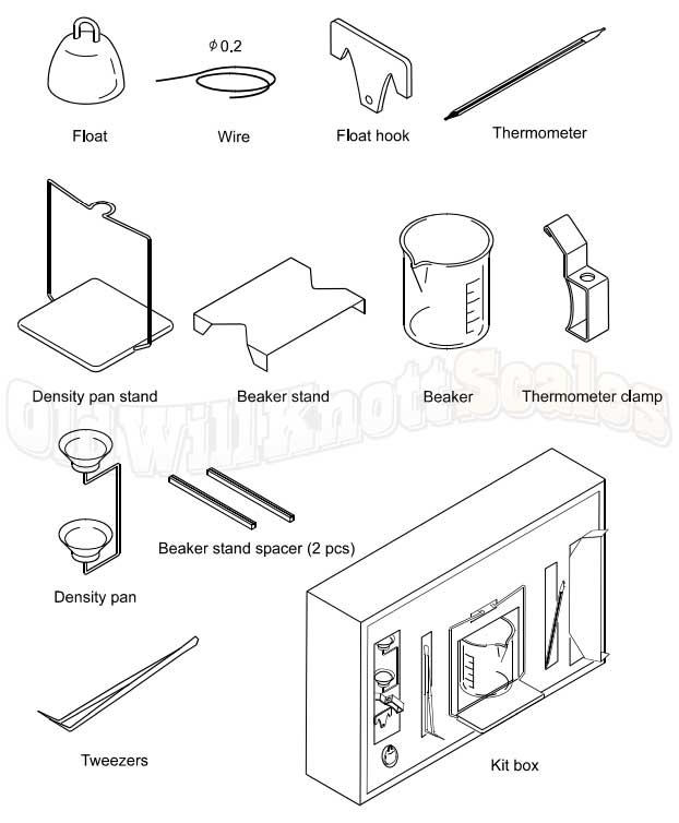 A&D Weighing GX-13 Density Determination Kit for GF and GX