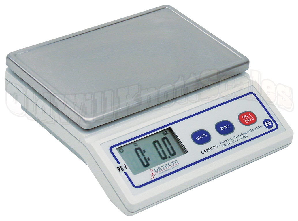 Detecto PS7 Rechargeable Compact Digital Portion Control Scale