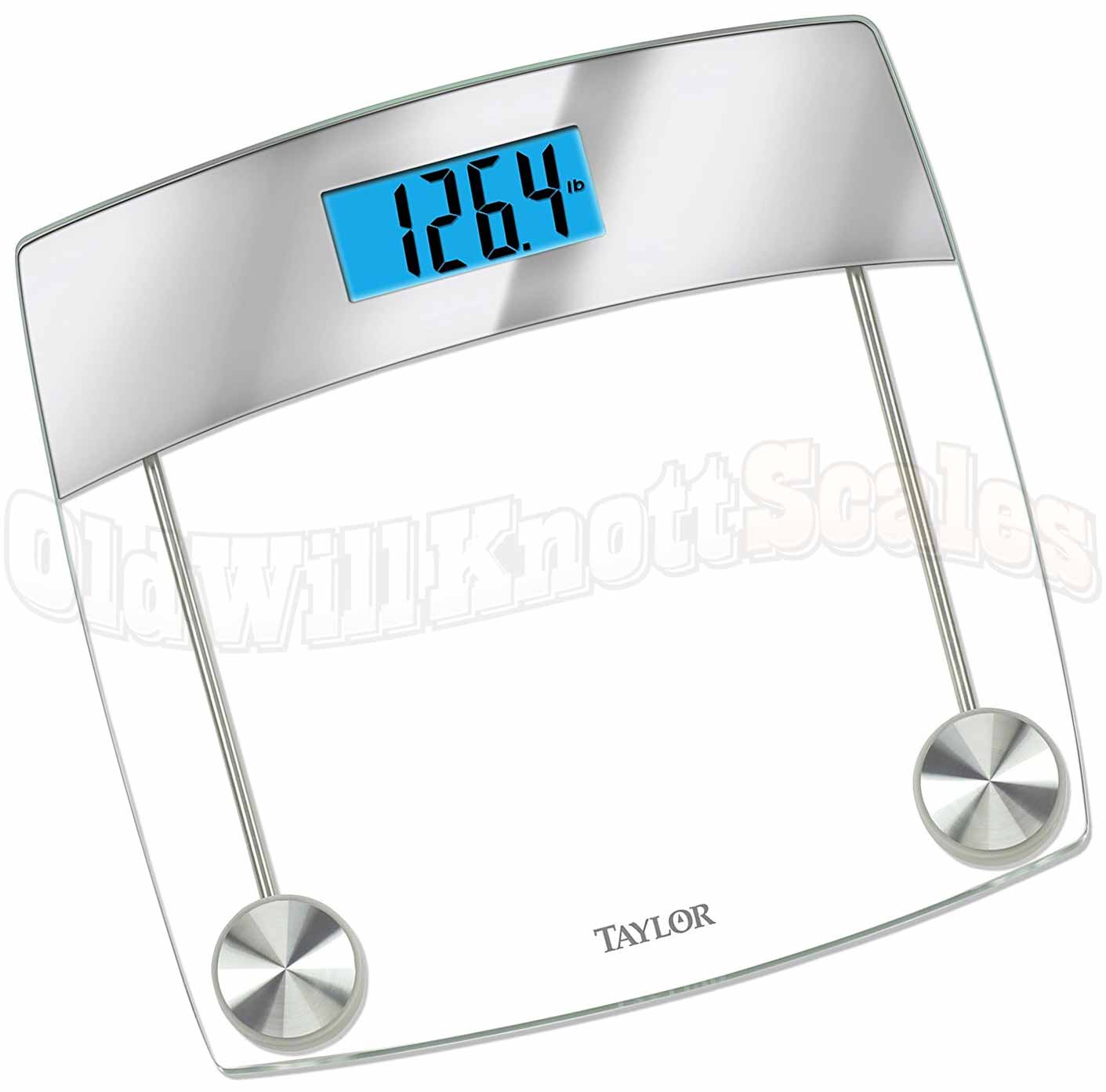 Taylor 7524 Digital Bathroom Scale with Glass and Mirror Platform
