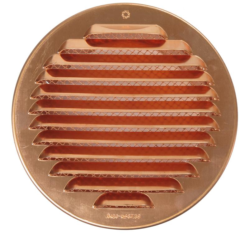 Copper Soffit Vent w Screen  Old World Distributors Inc