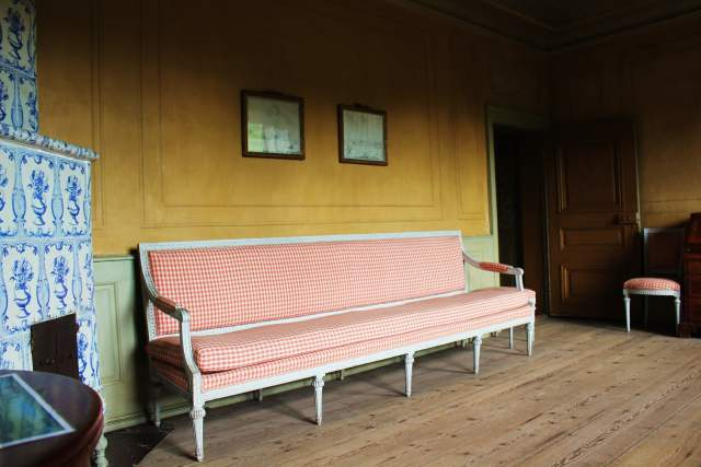 Red Gingham Settee