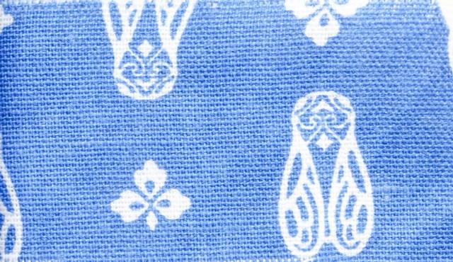 blue cicada print fabric