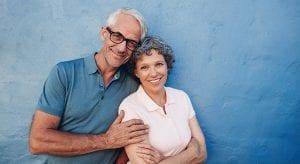 Photo of two seniors at a senior living community