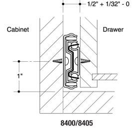 14 KV 8400 Series Drawer Slides