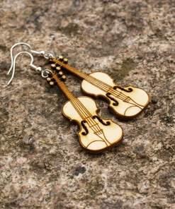 Puiset korvakorut viulu