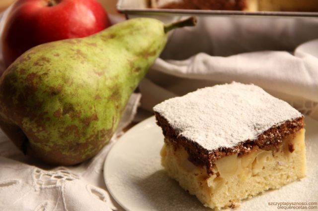 pastel con peras