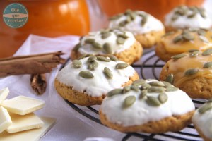 Galletas de calabaza con chocolate blanco