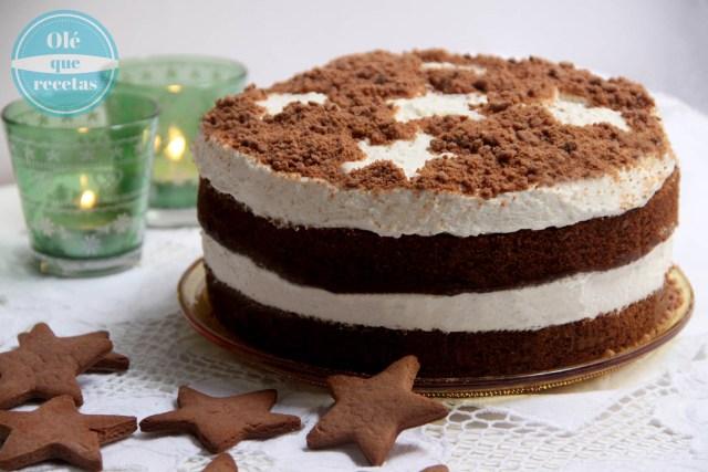 pastel navideño de jengibre
