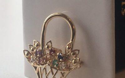 Custom Birthstone Pin/Pendant