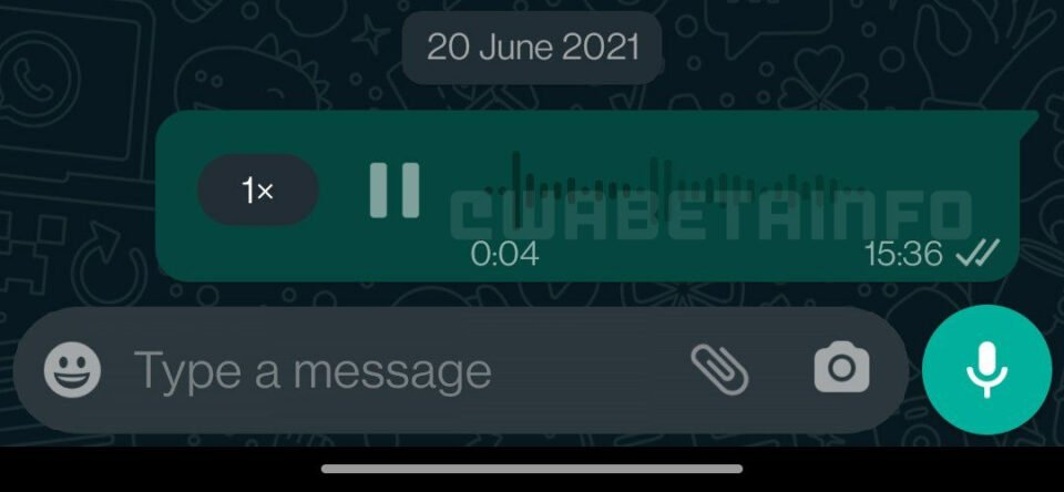 WhatsApp Disabled Voice Waveforms for Voice Messages on Android