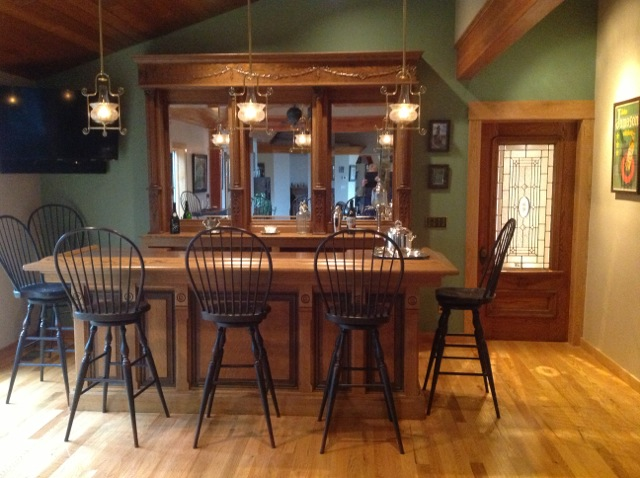 Small Antique Home Bar  Back Bars for Sale in