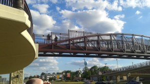 One of the pedestrian bridges on our tour