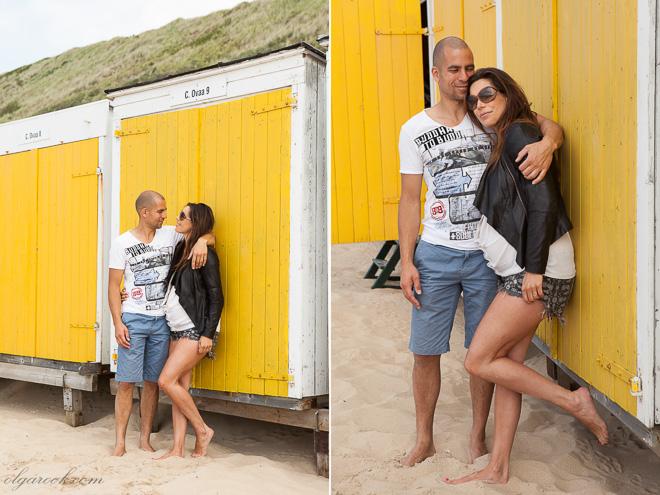 Fotosessie op het strand Vrolijk en nostalgisch