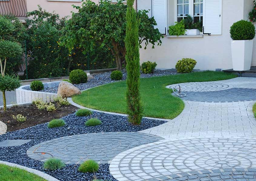 Une entre accueillante  Olgreen  Paysagiste  Mulhouse 68 Larchitecte de vos espaces verts
