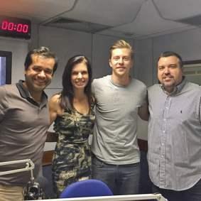 Com Jovane Nunes, Gustavo Bertoni e Estevão Damazio