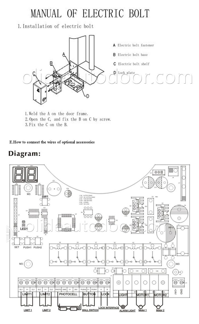 medium resolution of olide swing gate opener single arm with photocell alarm gate photocell wiring diagram