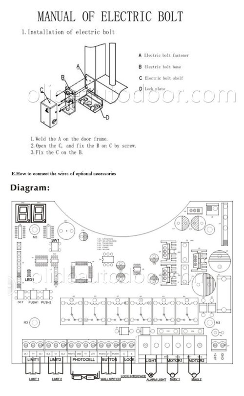 small resolution of olide swing gate opener single arm with photocell alarm gate photocell wiring diagram