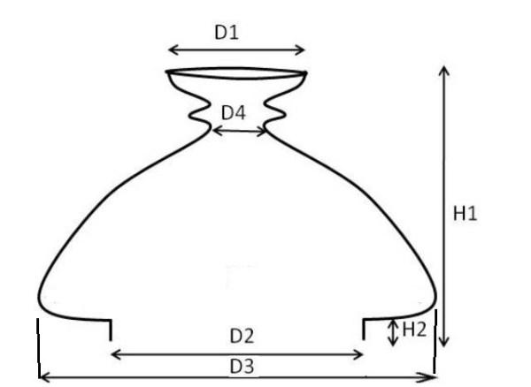 kap vesta opaal 110 mm – hoog 17