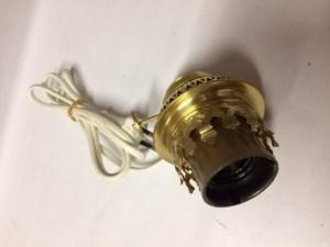 Brander imitatie 14 ligne met lamphouder E27 onderinvoer