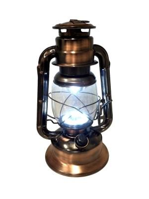 Stormlamp brons kleur 29 cm LED cool white-0