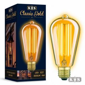 Classic GOLD LED lamp, helder