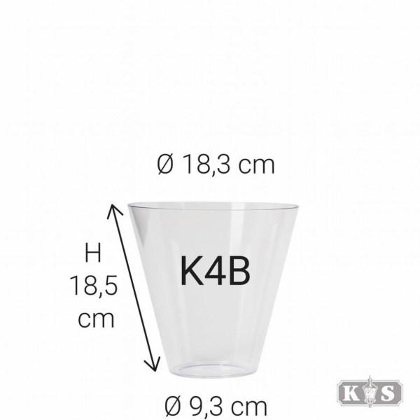 Kunststof glas K4B 18x9x18, helder-0