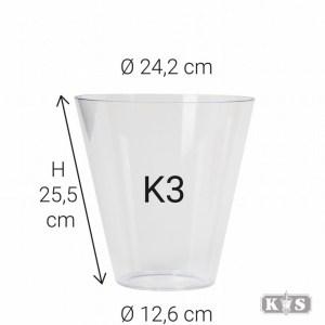 Kunststof glas K3 26x13x24, helder-0