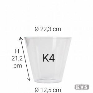 Kunststof glas K4 21x13x22, helder-0