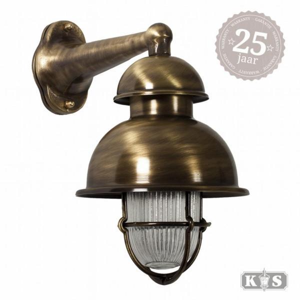 Muurlamp Wharf brons, brons 15