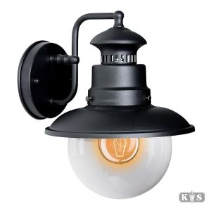Muurlamp Salo, zwart