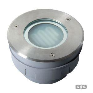 Grondspot Pro rond RVS 15cm, kunststof / rvs-0