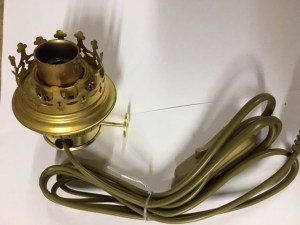 Brander imitatie 14 ligne met lamphouder E14 zijinvoer