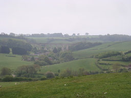 Behind the house - It was nice to see the English countryside again.