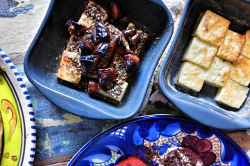 Halloumi with zaatar and dates