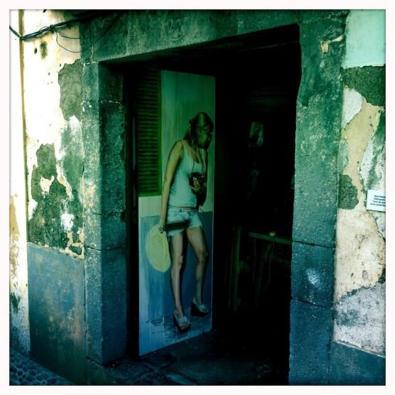 Bemalte Türen in Funchal Streetart