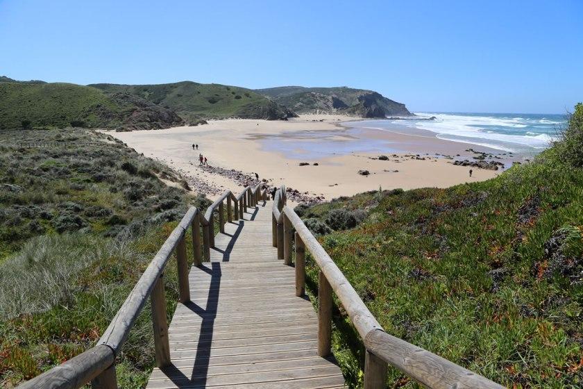 Treppe zum Strand Costa Vicentina
