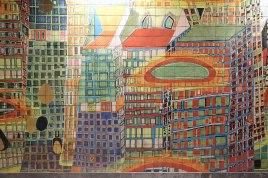 """""""Versunkene Stadt Atlantis"""" des Österreichers Friedensreich Hundertwasser"""