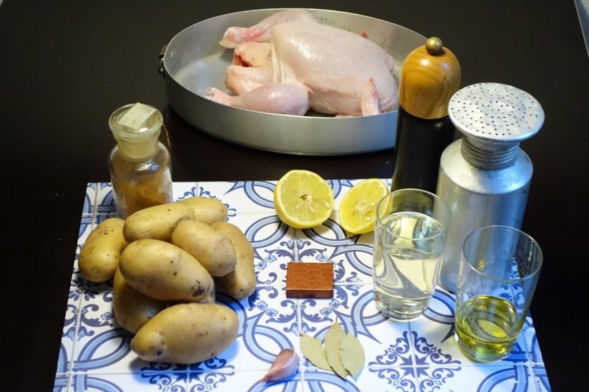 Zutaten für das Portugiesische Zitronenhaehnchen