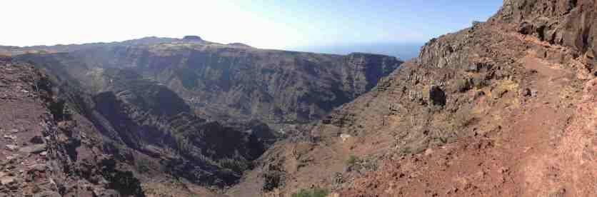 Schlucht im Valle Gran Rey auf La Gomera