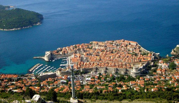 Panoramabild von Dubrovnik