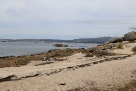 Strand auf der Halbinsel Arousa in Galicien