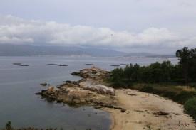 Idyllische Sandbucht auf der Halbinsel Arousa