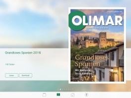 OLIMAR App Screenshot vom Tablet