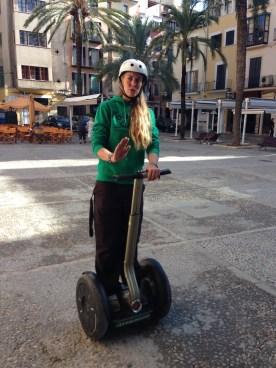 Segway-Coach Ines auf Palma de Mallorca