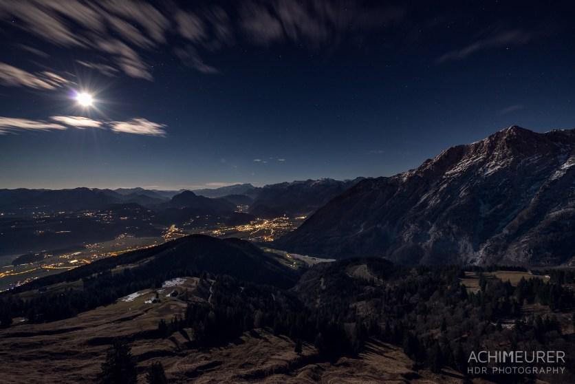 HDR Fotografie bei Nacht Bergwelt