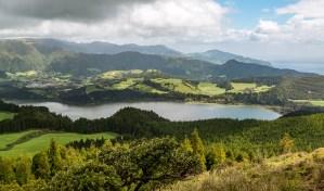 Panoramablick Furnas See Azoren Sao Miguel