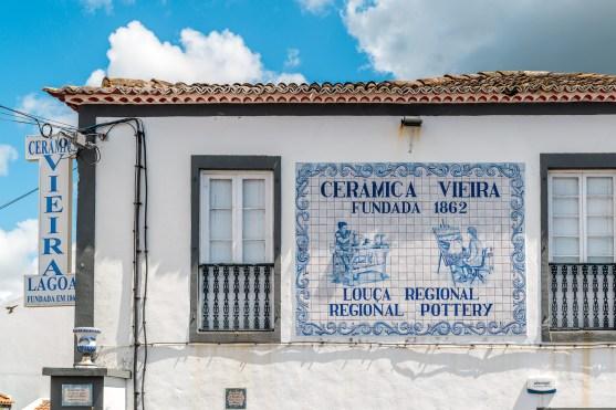 Keramikfabrik Vieira in Lagoa Azoren Sao Miguel